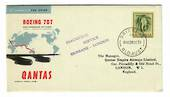 AUSTRALIA 1959 Inauguration of Qantas Boeing Jet Service from Brisbane to London. - 30110 - PostalHist