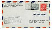 BELGIUM 1946 Pan American World Airways First Clipper Airmail Flight Brussels to London. - 30146 - PostalHist