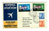HONG KONG 1966 Air New Zealand Inaugural Flight Hong Kong to Auckland. - 30152 - PostalHist