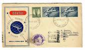AUSTRALIA 1958 1953 Qantas Coronation Flight Cover from Inaugueral Round the World Flight. Nice cover with fine copies of the 2/