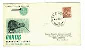 AUSTRALIA 1961 Qantas Inaugural Flight Cover to Wellington. - 30169 - PostalHist