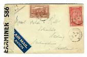 "CANADA 1942 Letter to Scotland. Reseal Label ""Opened by Examiner 586"". - 30212 - PostalHist"