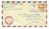 USA 1943 Airmail Letter postmark US Navy. Passed by Naval Censor.