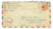 USA 1943 Airmail Letter from USS Henry T Allen. Postmark US Navy. Passed by Naval Censor.