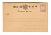 BAVARIA 1888 Postcard 5pf Mauve in mint condition. The back has minor faults. - 30402 - PostalStaty
