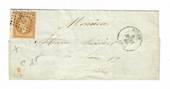 FRANCE 1880 Cover bearing 1853 10c stamp SG 46 ????. Identified as Die 1. Postmark 2738 andalso ROUEN 5/3/80. - 30489 - PostalHi