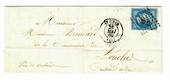 FRANCE 1860Letter from St Omer  to Ardres en Galasis. - 30491 - PostalHist
