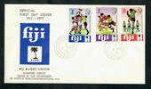 FIJI 1973 Rugby. Set of 3 on first day cover. - 30571 - FDC