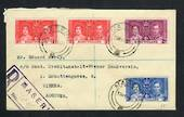 BASUTOLAND 1937 Coronation. Set of 3 on cover. Registered MASERU to Austria. - 30644 - FDC