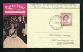 NEW ZEALAND 1954 Cover posted from PARLIAMENT BUILDINGS on 12/1/54 on the occasion of the opening of Parliament by Elizabeth 2nd