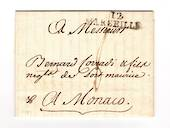 FRANCE 1797 Letter from Marseille to Monaco. MARSEILLE and Manuscript 8. - 30903 - PostalHist