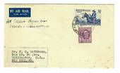 "AUSTRALIA  1950 Letter to New Zealand ""Per Solent Flying Boat Sydney-Wellington"". Rust spots. - 31041 -"