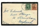 USA 1905 Two mourning covers posted from California via New York to Mrs Edwards in Shropshire England, one in May, the other in