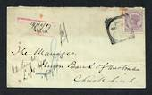 NEW ZEALAND 1887 Cover with 2d Second Sideface. Toning. - 31552 - PostalHist