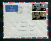 GREAT BRITAIN 1965 Sir Winston Churchill. Set of 2 on airmail first day cover to New Zealand. - 31726 - FDC