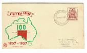 AUSTRALIA 1957 South Australia on illustrated first day cover. - 32024 - FDC