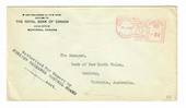 CANADA 1943 Letter from The Royal Bank of Canada to The Bank of New South Wales Geelong. Authorized for Export by The Foreign Ex