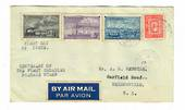 CANADA 1951 Centenary of the First Canadian Stamp. Set of 4 on first day cover airmail to New Zealand. - 32094 - FDC