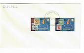 AITUTAKI 1974 Centenary of the Universal Postal Union. Set of 2 on first day cover. - 32158 - FDC