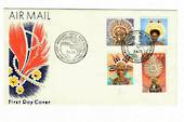 PAPUA NEW GUINEA 1977 Definitives Masks. Set of 12 on first day cover. - 32178 - FDC
