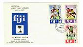 FIJI 1973 75th Anniversary of the Fiji Rugby Union. Set of 3 on first day cover. - 32193 - UHM