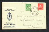 AUSTRALIA 1937 FDC 10/5/37 with 1d and 2d. Posted from MANILLA (NSW) to Palmerston North. Rust - 32226 - FDC