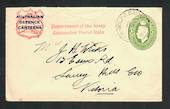 "AUSTRALIA 1941 Cover from Australian Defence Canteens. Postmark MIL PO BATHURST. Cachet ""Department of the Army Concession Posta"