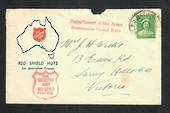 "AUSTRALIA 1941 Cover Salvation Army Red Shield Huts posted from Bathurst. Cachet ""Department of the Army Concession Postal Rate'"