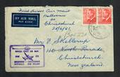AUSTRALIA 1951 First Official Direct Airmail Melbourne to Christchurch. - 32298 - PostalHist