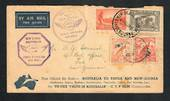 AUSTRALIA 1934 First Official Airmail Australia to New Guinea.  Postmark SHIP MAIL ROON MELBOURNE and LAE. Condition poor. - 323