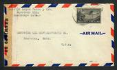 "CUBA 1944 Airmail Letter to USA. Cuba slogan cancel on the reverse. Reseal Label ""Examined by 30345"". - 32326 - FDC"
