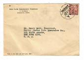 CHINA 1935 cover to USA. From the Asia Life Insurance Company. Postmarked SHANGHAI 21 2/9/35. - 32425 - PostalHist
