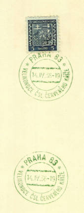 CZECHOSLOVAKIA 1929 Definitive with Special Postmark dated 14/4/1936. - 35577 - PostalHist
