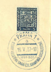 CZECHOSLOVAKIA 1929 Definitive with Special Postmark dated 16/5/1937. - 35586 - PostalHist