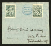 CZECHOSLOVAKIA 1938 20th Anniversary of the Of Battles. Internal front with two of the values. - 35588 - PostalHist
