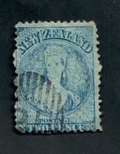 NEW ZEALAND 1862 Full Face Queen 2d Blue. Perf 12½. Extensive plate wear. Light postmark off face. One dull corner. - 3559 - Use
