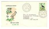 AUSTRALIA 1965 Definitive 3/- Bird on first day cover. - 37453 - FDC