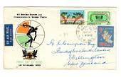 AUSTRALIA 1962 Games on first day cover with tied Christmas cinderella. - 38287 - FDC