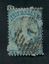 NEW ZEALAND 1862 Full Face Queen 2d Blue. Postmark 1. - 39012 - Used