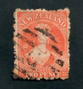 NEW ZEALAND 1862 Full Face Queen 2d Orange. Unpleasant postmark. - 39025 - Used