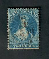 NEW ZEALAND 1862 Full Face Queen 2d Blue. Sound copy. - 39054 - Used