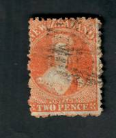 NEW ZEALAND 1862 Full Face Queen 2d Orange. Perf 12½. Watermark Large Star. No faults but the postmark covers the face. - 39069