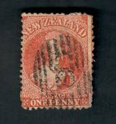 NEW ZEALAND 1862 Full Face Queen 1d Red. A good red shade. Postmark 12 covers the face. - 39079 - PostalHist