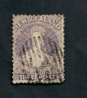 NEW ZEALAND 1862 Full Face Queen 3d Lilac. Perf 12½ at Auckland. - 39194 - Used
