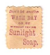 NEW ZEALAND 1882 Victoria 1st Second Sideface 1D Red. Don't Let another Wash Day go by without using Sunlight Soap. - 3968 - Min