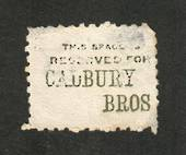 NEW ZEALAND 1882 Victoria 1st Second Sideface 2d Lilac. Perf 10. Advert in Green. Cadbury Bros .......................... - 3989