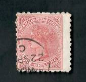 NEW ZEALAND 1882 Victoria 1st Second Sideface 1/- Red-Brown. Perf 10. 3rd setting in Red to Brown-Red. Poneke Beef Extract. Wing