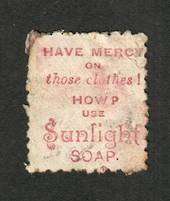 NEW ZEALAND 1882 Victoria 1st Second Sideface 1/- Red-Brown. Perf 10. 3rd setting in Red to Brown-Red. Sunlight Soap. - 4013 - U