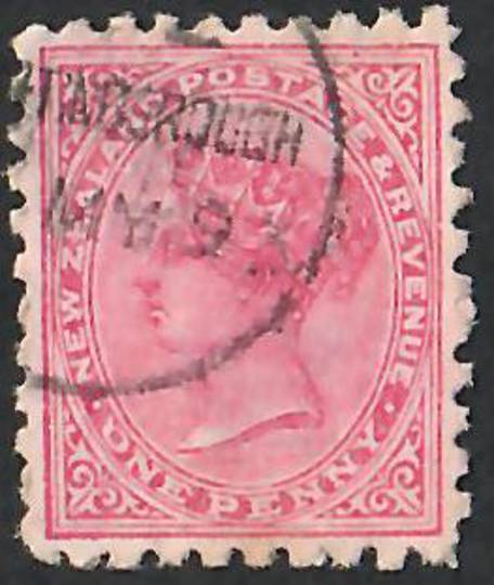 NEW ZEALAND 1882 Victoria 1st Second Sideface 1d Red.  Search North South East or West Sunlight Soap is the Best. Second setting