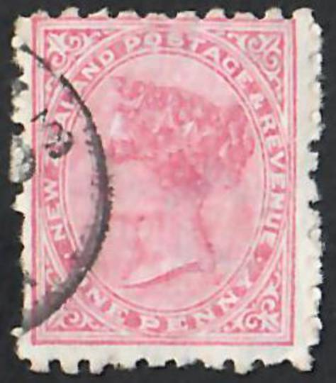 NEW ZEALAND 1882 Victoria 1st Second Sideface 1d Red. Lilac advert. Every dose of Bonnington's Irish Moss is Effective. - 4017 -